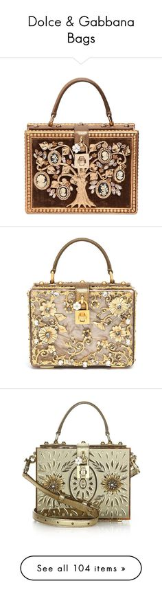 """""""Dolce & Gabbana Bags"""" by sakuragirl ❤ liked on Polyvore featuring bags, handbags, shoulder bags, bronze, dolce gabbana purse, brown shoulder bag, brown handbags, velvet handbag, dolce gabbana handbag and purses"""