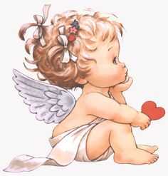 Little Angel ¦ Ruth Morehead Angel Pictures, Cute Pictures, Baby Engel, Tattoos Familie, Art Mignon, Aquarell Tattoos, Mosaic Pictures, Angel Art, Christmas Angels