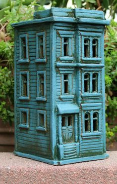 Stucco Row House - Buildings - Gallery - John Brickels ... | ... Harry Tanner Design Miniature clay house sculpture nitelite
