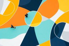 Superb Multicolored Basketball Court in Italy by GUE – Fubiz Media
