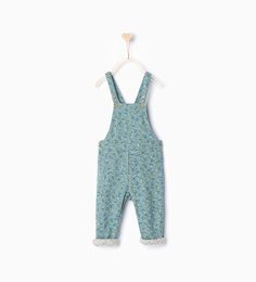 Floral print dungarees-Dresses and Jumpsuits-Baby girl | 3 months - 3 years-KIDS | ZARA United States