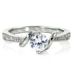 Sterling Silver 0.71ct Russian Ice on Fire Simulated Diamond CZ Promise Friendship Engagement Ring, Entwined Love (sizes 4-10), 042-3066