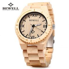 SHARE & Get it FREE | Bewell ZS - W065A Wood Men Quartz Watch Roman Numeral ScalesFor Fashion Lovers only:80,000+ Items·FREE SHIPPING Join Dresslily: Get YOUR $50 NOW!