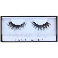 Faux Mink Lash Farah #12 (74 PEN) ❤ liked on Polyvore featuring beauty products, makeup, eye makeup, eyebrow makeup, eyebrow cosmetics, brow makeup and eye brow makeup