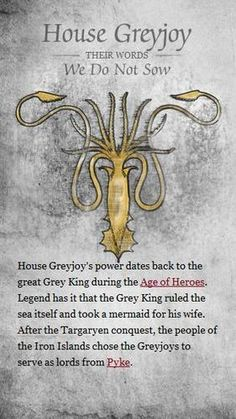 House Greyjoy – game-of-thrones Photo? – winter is coming Game Of Thrones Facts, Got Game Of Thrones, Game Of Thrones Quotes, Game Of Thrones Funny, Sons Of Anarchy, Mejores Series Tv, Got Memes, Love Games, Films