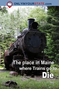 Travel | Maine | Abandoned Places | Abandoned Trains | Train Graveyard | Creepy Places | Scary Places | Abandoned US