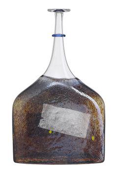 Satellite bottle blue, design by Bertil Vallien for Kosta Boda