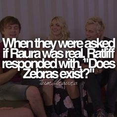 Lol and Raura ;-) there was an argument in Austin and ally that's probably why he mentioned it.