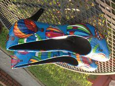 Hot air balloon shoes! Custom high heels.                          www.theneoncat.com