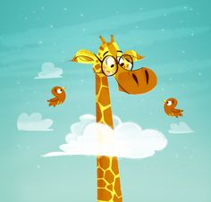 The thing I really like about this piece of imagery is the way it move exaggerate the height of the giraffe. This shows children that giraffes have really long necks.