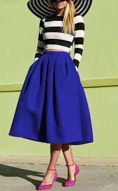 This pleated midi skirt from SheIn has a distinct old-fashioned style that will surely impress!