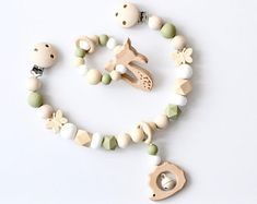 Teething Jewelry, Teething Toys, Drops Baby, Kids Headbands, Dummy Clips, Baby Sewing Projects, Baby Teethers, Pink Beige, Handmade Baby