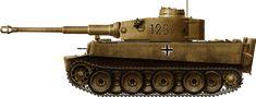 Tiger in Tunisia Tiger Ausf.E(T), first batch sent to Tunisia, sPz.Abt. 501, November 1942.