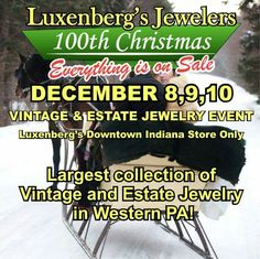 HUGE selection of Vintage and Estate Jewelry on hand for you! Join us this weekend for amazing savings on the most incredible jewelry you will ever see. Luxenberg's...We want to be your Jeweler. www.luxenbergs.com