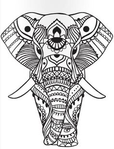elephant colouring page color mind on issuu