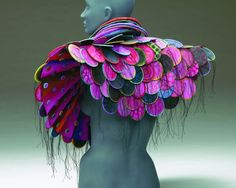 Sculptural Paintings to Wear by Marjorie Schick - wave avenue