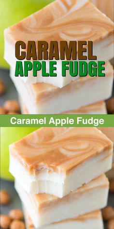 Wedding cake recipes 734649757949209225 - One of the best fall treats – homemade caramel apple fudge! This fudge reminds me of those green caramel apple suckers! Source by lisacabal Homemade Fudge, Homemade Candies, Homeade Candy, Homemade Candy Recipes, Homemade Food Gifts, Homemade Sweets, Homemade Marshmallows, Homemade Breads, Baking Recipes