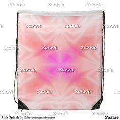 Pink Splash Drawstring Bag