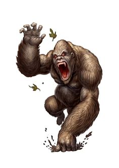Another Paizo piece, this one was a forest gorilla.