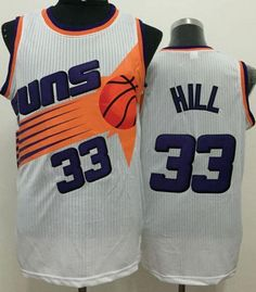 a91fe68f1 Suns  33 Grant Hill White Throwback Stitched NBA Jersey