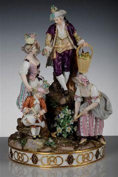 gardeners group   Acier, Michel Victor (1736-1799) Modeller  Beauty, Johann Carl (1730-1805) Modeller    Meissen, model 1772, 1780/81 loft   Porcelain collection