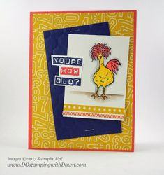 Sale-a-Bration: Hey, Chick Free Stamp Set (& Watercolor Pencils update)