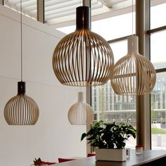 Simultaneously grand yet visually light, the Octo 4240 Pendant by Secto Design is airy enough to fit in any space. Cheap Pendant Lights, Modern Pendant Light, Pendant Light Fixtures, Pendant Lamp, Pendant Lighting, Dining Lighting, Living Room Lighting, Cool Lighting, Luminaire Design