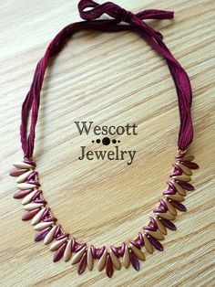Pattern for Godet Necklace and Earrings with Crescent Beads