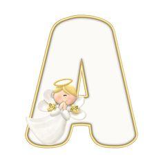 Alphabet, Christmas Scrapbook, Angel, Guardian Angels, Elves, Heavens, Letters, Alpha Bet, Angels