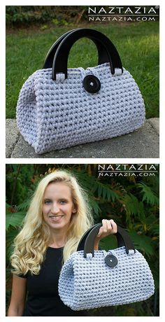 Easy Crochet Casual Friday Handbag Free Pattern #crochet
