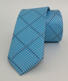 Cyan Dotted Mens Tie 6 cm (2,36 #handmadeatamazon #nazodesign