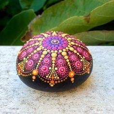 Stone Mandala hand painted