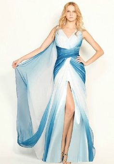 wedding dresses white and sky blue - Google Search