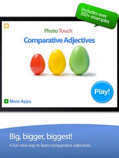Wonderful FREE App for Comparing objects and comprehension. - Re-pinned by @PediaStaff – Please Visit http://ht.ly/63sNt for all our pediatric therapy pins