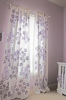 Steps to stenciling your own Window Treatments