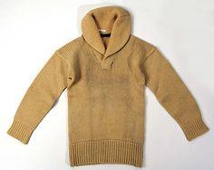 Tan wool sweater, American, ca. 1927.