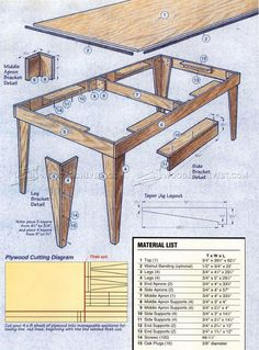 Shop Table Plans - Workshop Solutions