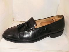 BALLY MENS BLACK LEATHER APRON TOE TASSLE LACE LOAFER SIZE 9.5 M DUNHAM ITALY.. #Bally #LoafersSlipOns #Formal