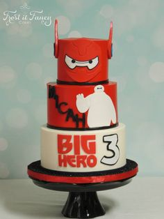 Big Hero 6 theme cake by Frostitfancy Cakes, very cool!