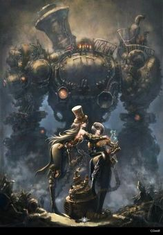Mech monster | fantasy art | sci fi, science fictional | Steampunk art |
