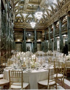 RAL ON CARNEGIE: Carnegie Music Hall Foyer at the Carnegie in Pittsburgh! Look at the details in the room, amazing! Wedding Reception Music, Wedding Venues, Wedding Ideas, Wedding Decorations, Wedding Inspiration, Fantasy Wedding, Dream Wedding, Vintage Travel Wedding, Baroque Decor