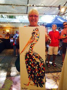 Anne's Pelican Tracey Keller Painting