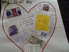 Heart map to start kids off on various memories they hold dear. Common Core Writing, Work On Writing, Sentence Writing, Writing Process, Writing Workshop, Writing Ideas, Personal Narrative Writing, Informational Writing, Personal Narratives