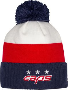 1fc91a66835 adidas Men s 2018 Stadium Series Washington Capitals Player Cuffed Knit  Beanie