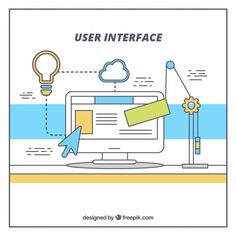 User interface with web elements Free Vector