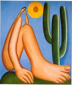 Tarsila do Amaral, O Abaporu (1928). Veja também: http://semioticas1.blogspot.com.br/2011/09/ao-sol-carta-e-farol.html ao lado de Assis Chateaubriand, em 1945