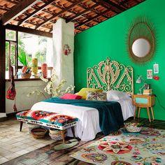 Tête de lit 160 en rotin Peacock | Maisons du Monde