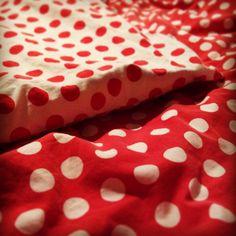 Dekbed met stippen #rood