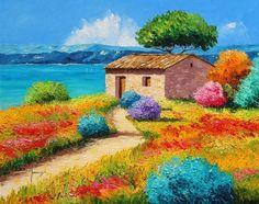 arte-en-pinturas-en-espatula-de-paisajes-comerciales
