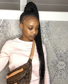 Great Free of Charge 28 Ideas Braids Hairstyles For Black Women With Weave Marley Twists For 2019 -. Strategies Braids are probably among the oldest hairstyles which were changed in numerous ways. One cannot ref # Braids with weave colour Braided Ponytail Hairstyles, Braided Hairstyles For Black Women, African Braids Hairstyles, My Hairstyle, Weave Hairstyles, Girl Hairstyles, Braided Ponytail Black Hair, Weekend Hairstyles, Feed In Braids Ponytail